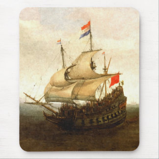 Combat sailboat mouse pad
