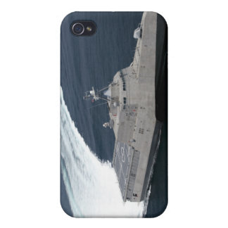 Combat ship Independence in the Gulf of Mexico iPhone 4 Covers