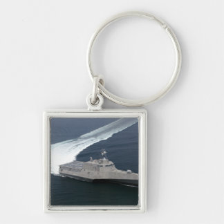 Combat ship Independence in the Gulf of Mexico Keychain