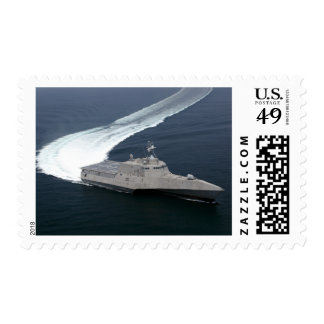 Combat ship Independence in the Gulf of Mexico Postage
