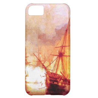 Combat ships at sea iPhone 5C case