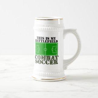 Combat Soccer Beer Stein
