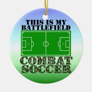 Combat Soccer Ornaments