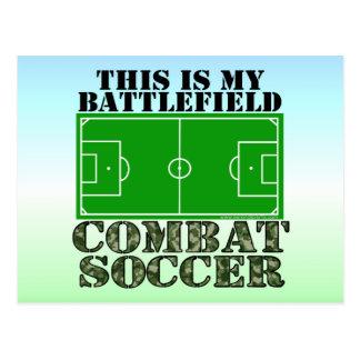 Combat Soccer Post Card