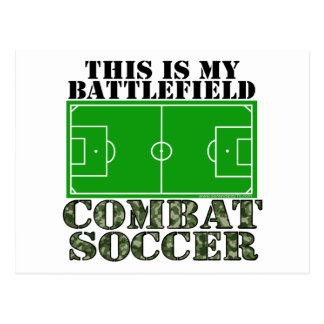 Combat Soccer Post Cards
