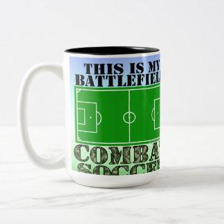 Combat Soccer Two-Tone Coffee Mug
