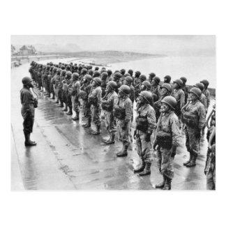Combat Uniforms Gasmasks Postcard