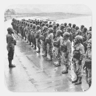Combat Uniforms Gasmasks Square Sticker
