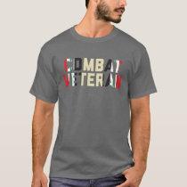 Combat Veteran Operation Iraqi Freedom Dark T-Shirt
