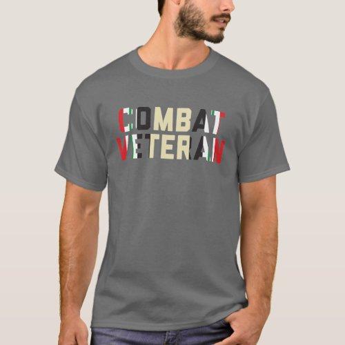 Combat Veteran Operation Iraqi Freedom Dark T_Shirt