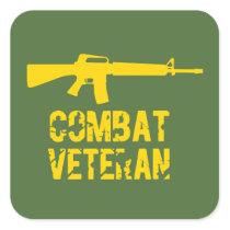 Combat Veteran Veterans Day Stickers