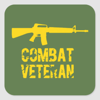 Combat Veteran Veterans Day Stickers