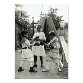 """Combate 1915 de boxeo del patio trasero invitación 5"""" x 7"""""""