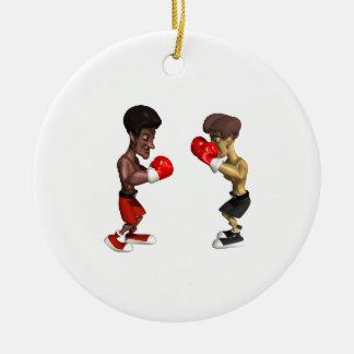 Combate de boxeo adorno
