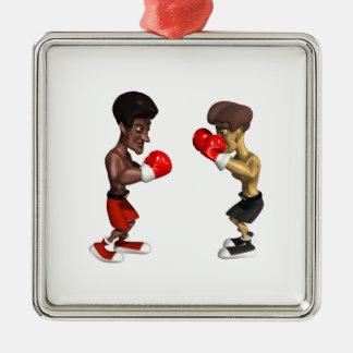 Combate de boxeo ornamento para reyes magos