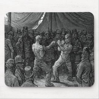 Combate de boxeo del Victorian Tapete De Ratones