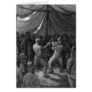 Combate de boxeo del Victorian Tarjeta De Felicitación