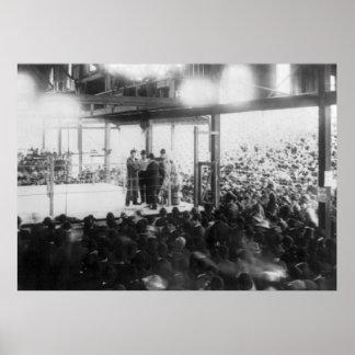 Combate de boxeo en Jacksonville, 1890s Posters