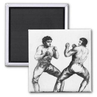 Combate de boxeo imán