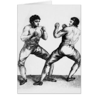 Combate de boxeo tarjetas
