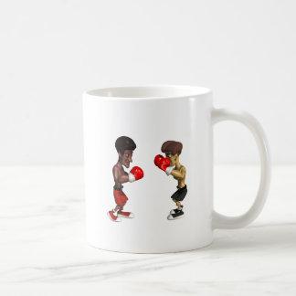 Combate de boxeo taza