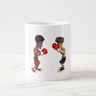 Combate de boxeo taza grande