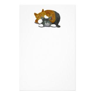 Combate de lucha con dos gatos papeleria