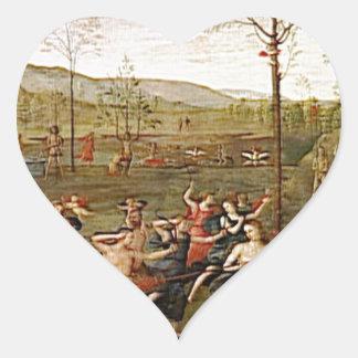 Combate del amor y de la castidad de Pedro Pegatina En Forma De Corazón