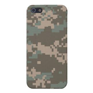 Combate del caso del iPhone de Camo del ejército d iPhone 5 Protectores