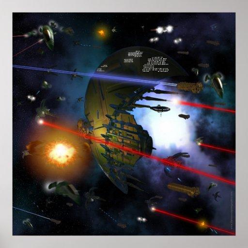 Combate del espacio poster