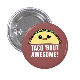 Combate del Taco 'impresionante Pin Redondo De 1 Pulgada