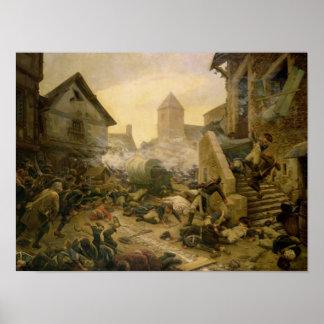 Combate en Cholet o el suicidio del general Póster