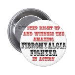 Combatiente asombroso del Fibromyalgia en la acció Pins