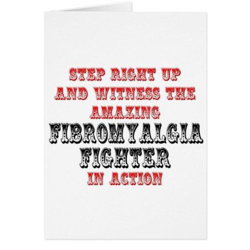 Combatiente asombroso del Fibromyalgia en la acció Tarjeta De Felicitación