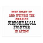 Combatiente asombroso del Fibromyalgia en la acció Postales