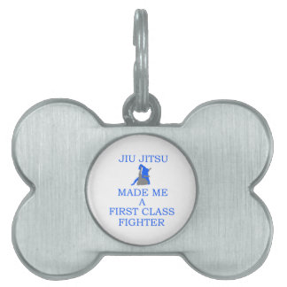 combatiente brasileño del jitsu del jiu placas mascota