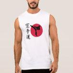 Combatiente chino del karate camiseta sin mangas