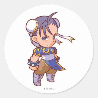 Combatiente Chun-Li 2 del bolsillo Pegatina Redonda
