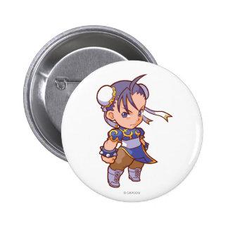 Combatiente Chun-Li 2 del bolsillo Pin Redondo 5 Cm