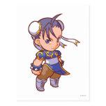 Combatiente Chun-Li 2 del bolsillo Tarjeta Postal
