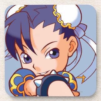 Combatiente Chun-Li del bolsillo Posavaso