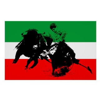 Combatiente de Bull del mexicano Poster
