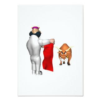 """Combatiente de Bull Invitación 5"""" X 7"""""""