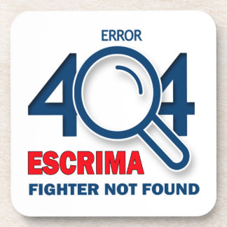 Combatiente de Escrima del error 404 no encontrado Posavasos De Bebida