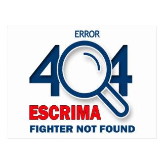 Combatiente de Escrima del error 404 no encontrado Tarjeta Postal
