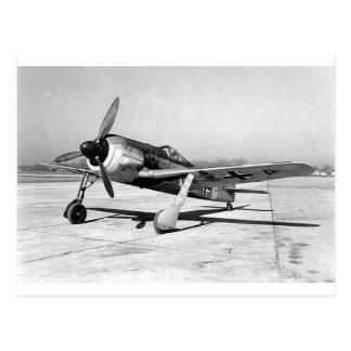 Combatiente de Focke Wulf Fw190, en la pista de Tarjetas Postales