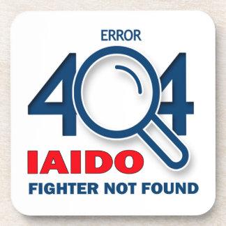 Combatiente de Iaido del error 404 no encontrado Posavasos De Bebida