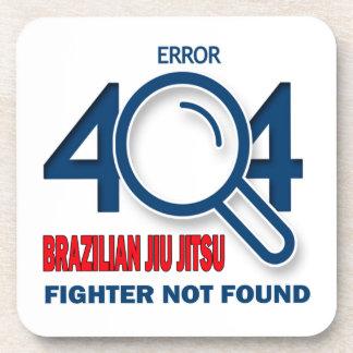 Combatiente de Jiu Jitsu del brasilen@o del error Posavasos De Bebida