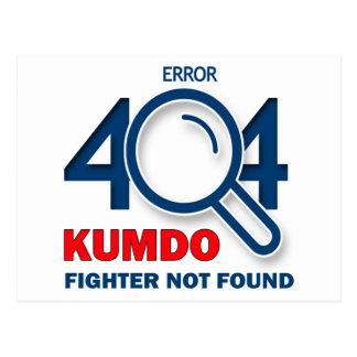 Combatiente de Kumdo del error 404 no encontrado Postal
