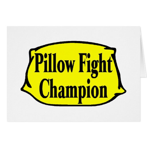 Combatiente de la almohada felicitación